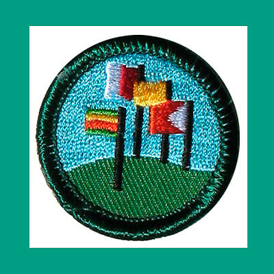 WORLD NEIGHBORS Juniior Jade Girl Scout BADGE NEW Patch Flags Multi=1 Ship Chrg