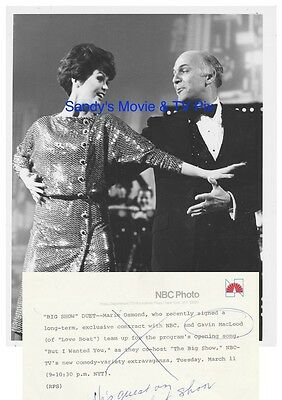 MARIE OSMOND, GAVIN MacLEOD Terrific ORIGINAL TV Photo THE BIG SHOW