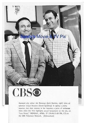 DAVID SPIELBERG, JACK BANNON Terrific ORIGINAL TV Photo LOU GRANT