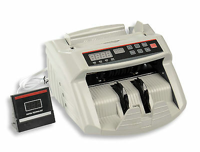 Money Bill Note Counter Counting Machine Multi-Currency Counterfeit Detector NEW