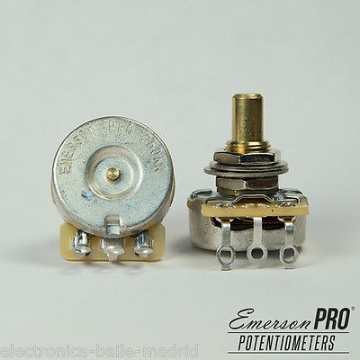 1x EMERSON PRO CTS 250K 8% TOLERANCE AUDIO TAPER SOLID SHAFT POTENTIOMETER