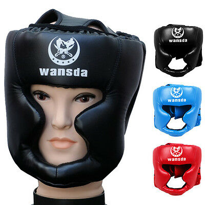 Headgear Head Guard Training Kick Boxing Protector Sparring Gear Face Helmet New
