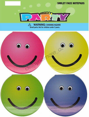12 x Smiley Face Notepads Party Favours Treat Loot Bag Birthday Bloc-Notes Pads