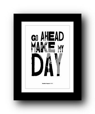 Clint Eastwood Typography movie quote poster art limited edition print #77