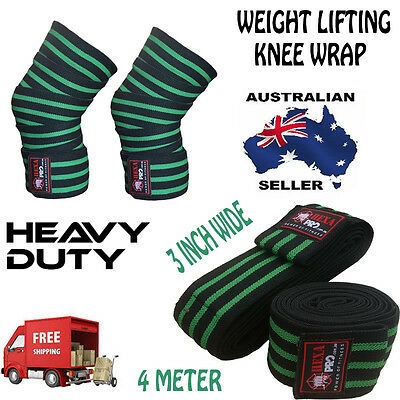 HEAVY DUTY POWER LIFTING KNEE WRAPS BODYBUILDING/Weight lifting STRAPS