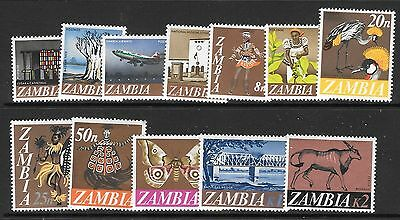Zambia Sg129/40 1968 Decimal Currency Mnh