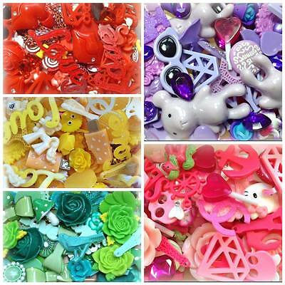 Mixed Flatback Resin / Clay Cabochons Decoden Cardmaking Crafts Assorted Styles