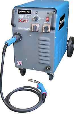 MIG Welder 20 - 310 amp Single Phase Ultimate Workshop Smooth DC Welder 300amp