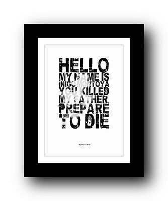 The Princess Bride ❤ Typography movie quote poster art limited edition print #94