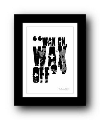 The Karate Kid ❤ Typography movie quote poster art limited edition print #92