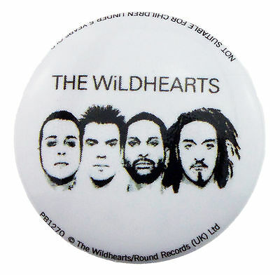 THE WILDHEARTS LOGO WHITE  25mm BADGE NEW & OFFICIAL BAND MERCHANDISE PB1270