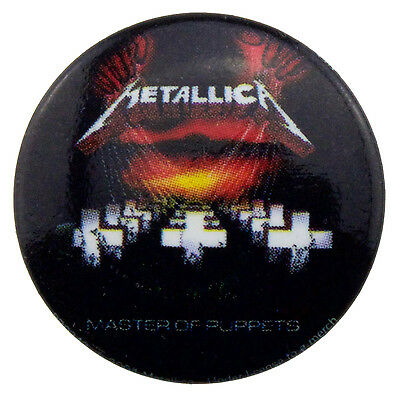 METALLICA MASTER OF PUPPETS 25mm BADGE NEW & OFFICIAL BAND MERCHANDISE PB0342