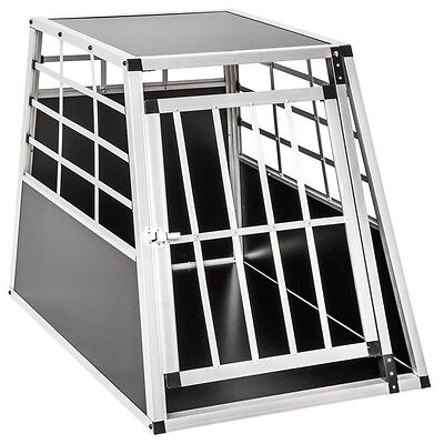 Aluminium Dog Pet Cage Transport Crate Car Travel Carrier 65x90x69,5 cm