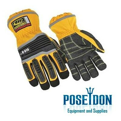 NEW Ringers Short Cuff Extrication Rescue Safety Gloves, Yellow, Size Medium