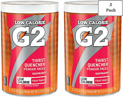 Gatorade G2 Low Calorie Powder Packs - Fruit Punch - 2 Canisters (16 packets)
