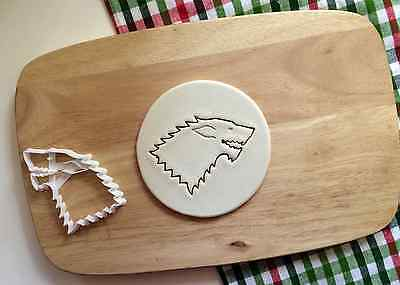 Stark Sigil Cookie Cutter Game Of Thrones Cupcake Topper Fondant Biscuit Wolf