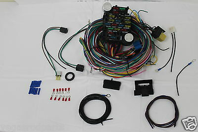 21 circuit ez wiring harness mini fuse chevy ford hotrods 21 circuit wiring harness chevy mopar ford hot rods universal wires