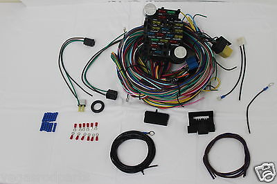 21 circuit 17 fuses ez wiring harness chevy mopar ford hot rod 12 circuit wiring harness chevy mopar ford hot rods universal wires