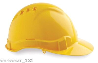 Yellow Hard Hat Vented Pro Choice Site Safety Construction Hhv6