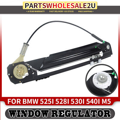 Rear/Left and/Right Power Window Regulator Without Motor for BMW E39 525i 528i 530i 540i M5 2000-2003 2-PC Set