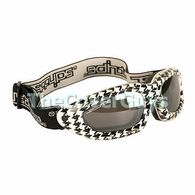 Jettribe Houndstooth Frame Smoke Lens Riding  Goggles Ideal forJetski , Surfing