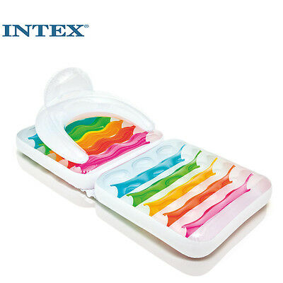 Intex Folding Lounge Inflatable Chair For Swimming Pool Raft Lounger Seat
