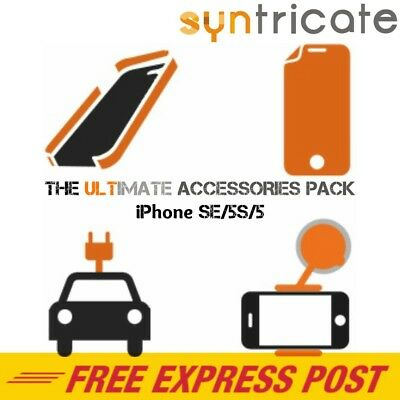 The Ultimate Accessories Pack for iPhone SE/5s Incipio Clear Case/ Car Charger