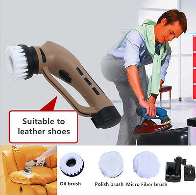 Household Shoe Brush Polisher Electric Automatic Clean Machine Equipment UK Plug