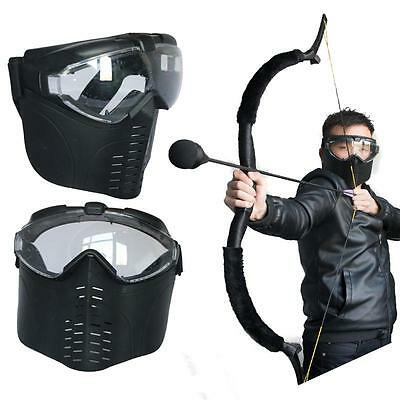 Archery CS Games Tactical Airsoft Full Face Mask Safety Protect Guard Hunting