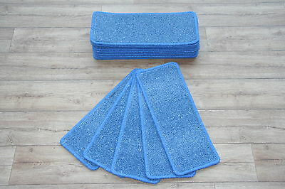 14 Open Plan Carpet Stair Treads Plain Blue Quality Twist Pads! 14 Large Pads!