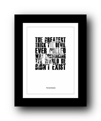 The Usual Suspects ❤ Typography movie quote poster limited edition print #100