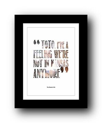 The Wizard of Oz ❤ Typography movie quote poster art limited edition print #103