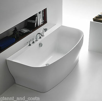 Bathroom Acrylic Free Standing Bath Tub 1650x780x600 FREESTANDING BACK TO WALL
