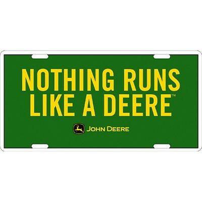 John Deere Nothing Runs Like A Deere License Plate