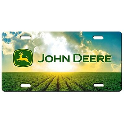John Deere Field Scene License Plate
