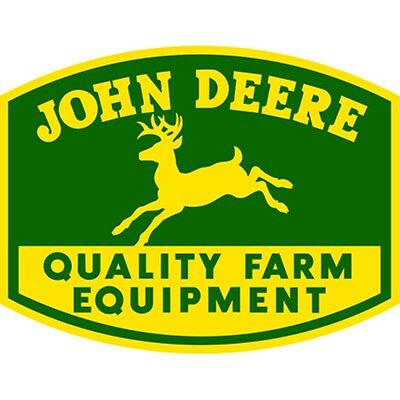 John Deere Embossed Die Cut Metal Sign
