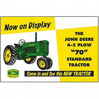 John Deere Embossed Metal Sign
