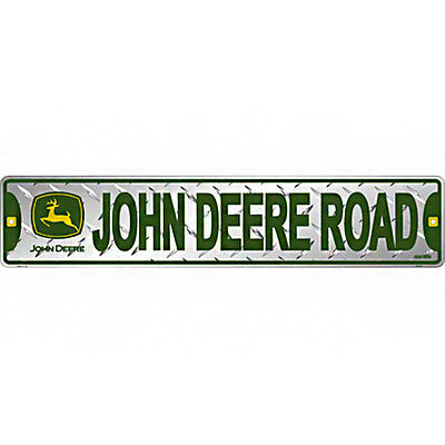 John Deere Road Metal Diamond Street Sign