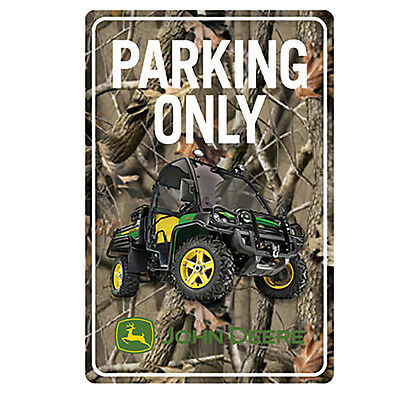 John Deere Gator Parking Only Camo Sign