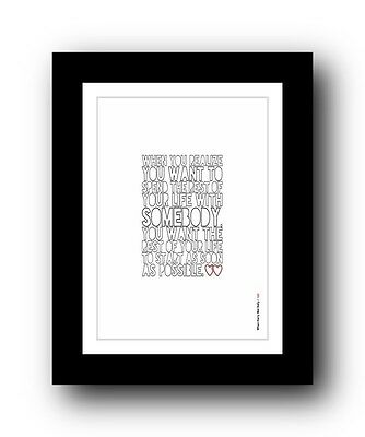 When Harry Met Sally ❤ Typography movie quote poster limited edition print #109