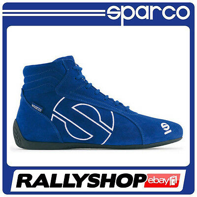 FIA Sparco Slalom shoes, size 41 Blue Sport boots Race Rally Driver NOMEX High
