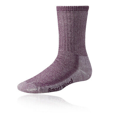 SmartWool Womens Purple Medium Hiking Outdoors Warm Thermal Crew Socks
