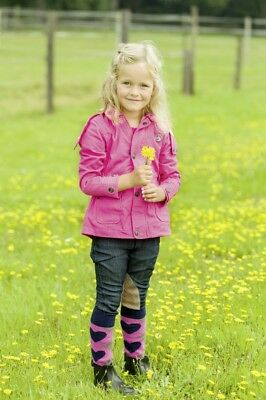 Kinder Outdoorjacke Reitjacke Sweetheart Little Sister pink NEU