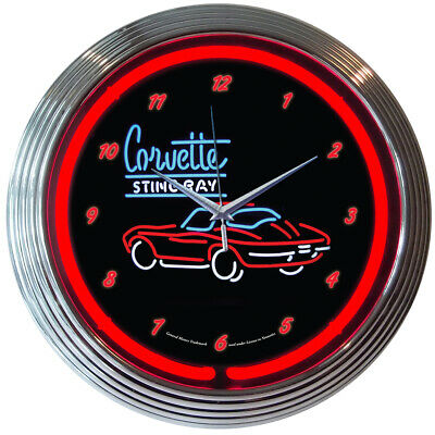 Retro blue neon clock sign Only in a Jeep Willy 4x4 american legend Since 1941