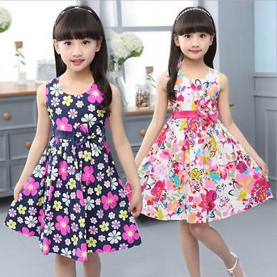 2016 New Summer Floral Girl Dresses Girls Clothes Kids Cotton Dress Size