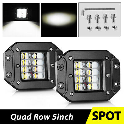 6inch LED Single Row Light Bar Spot Offroad Pickup 4X4 Marine Bumper Driving 8''