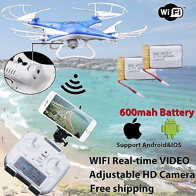 WIFI Camera Drone FPV 2.4Ghz 4CH 6-Axis RC Quadcopter HD RTF Explorer 3Battery