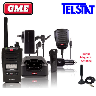 GME TX6160 Walkie Talkie 5 watt UHF CB Handheld Radio BONUS Magnetic Antenna