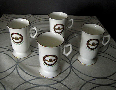 "Irish Coffee Mug ""The Claddagh Brooch"" by Royal Tara / Set of 4 Mugs"