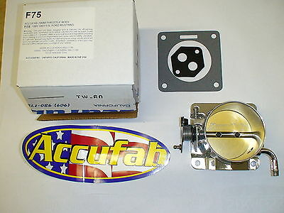 86-93 Mustang 5.0 Accufab 75mm throttle body 302 fox turbo supercharger F75